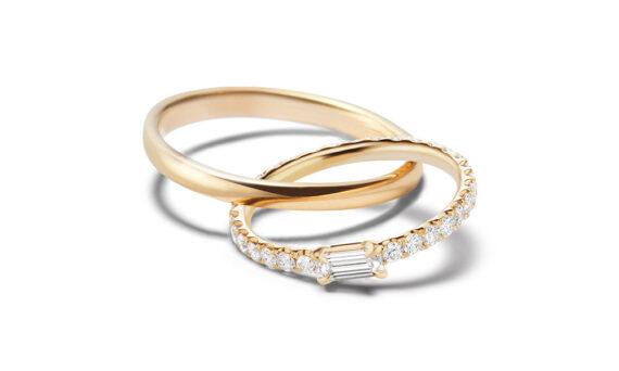 Sandrine de Laage Boyfriend Solitaire ring