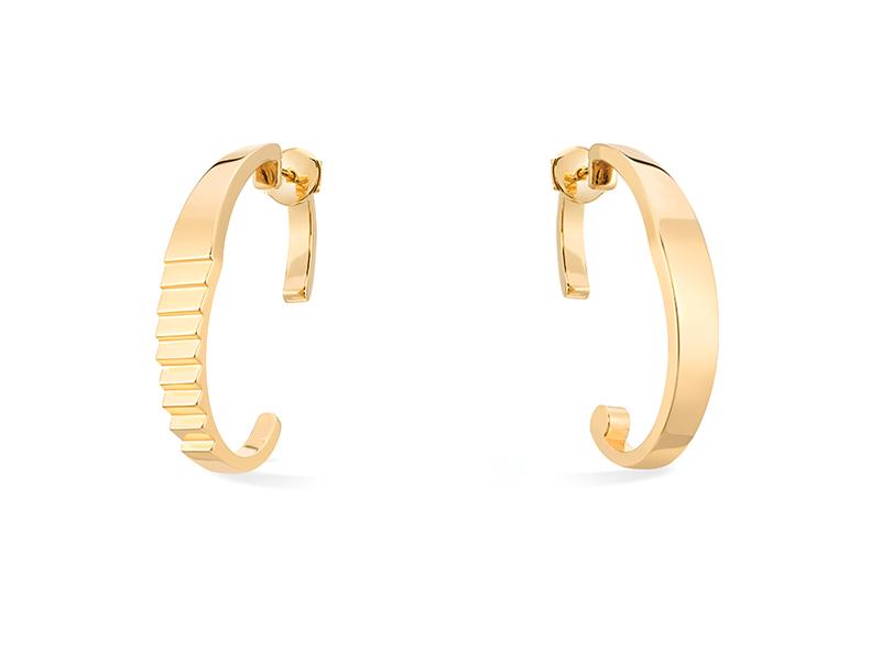 Canaglia - Boucles d'oreilles Malaparte en or jaune