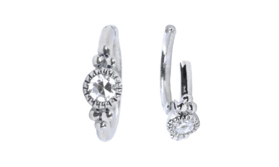 De Jaegher Sunny bubbles earrings white gold 2