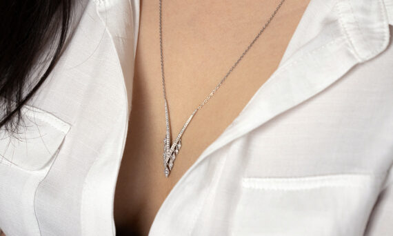 De Jaegher Sexylilicious necklace sterling silver diamonds 4