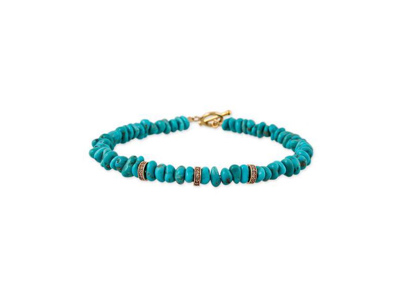 """Jacquie Aiche - Bracelet """"3 Diamond Rondelle"""""""