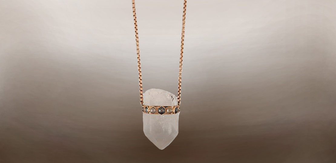 Jacquie Aiche necklace quartz