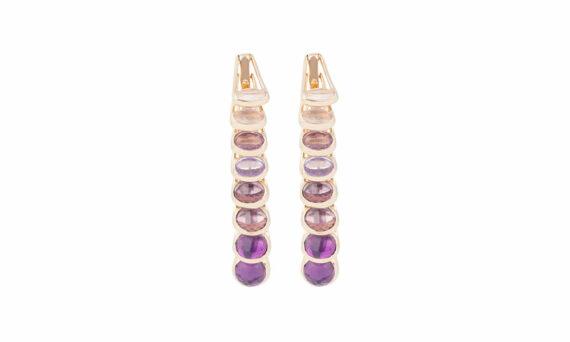 Marie Mas Dancing Earrings amethysts