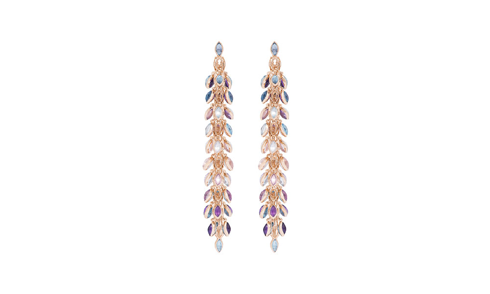 Marie Mas Swinging Earrings topaz amethyst