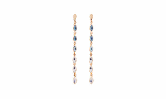 Marie Mas Swinging Line Earrings L blue