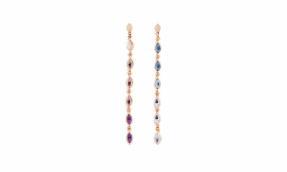 Marie Mas Swinging Line Earrings L blue purple