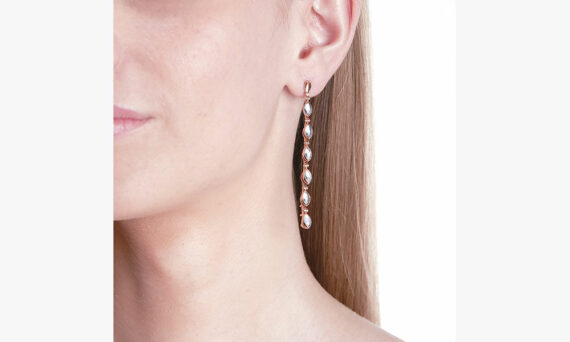 Marie Mas Swinging Line Earrings L porte topaz