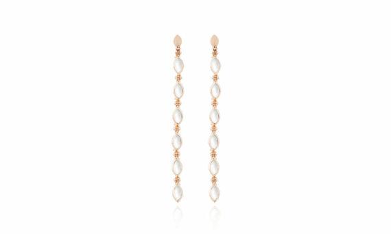 Marie Mas Swinging Long Line Earrings mother of pearl