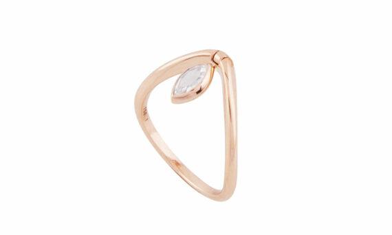 Marie Mas Swinging Marquise Diamond V Ring diamond