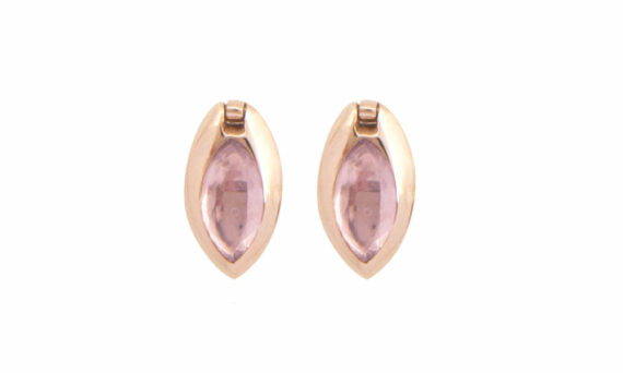 Marie Mas Swinging Marquise Studs Amethysts