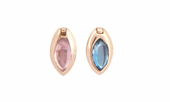 Marie Mas Swinging Marquise Studs topaz amethyst