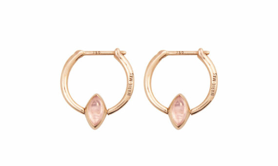 Marie Mas Swinging Mini Hoop Earrings pink amethyst