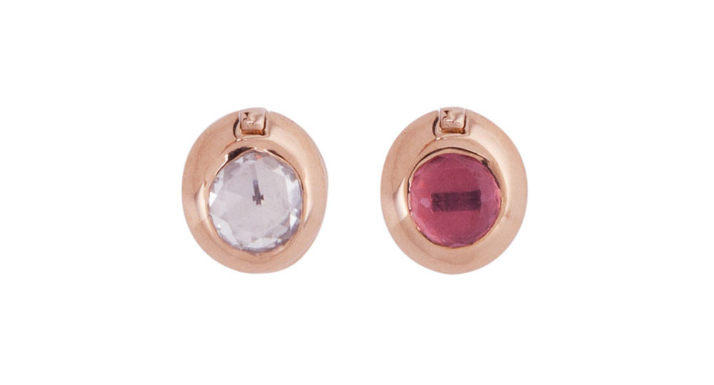 Swinging Round Diamond Studs L