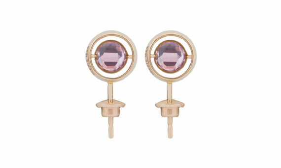 Marie Mas Swiveling Side Stud Earrings pink amethysts