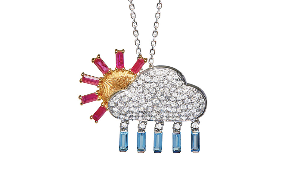 Frédérique Berman Météo Diamond necklace