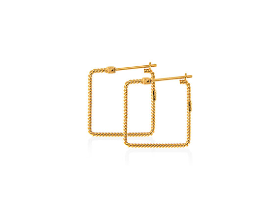Christina Soubli Basic Square Hoops