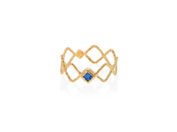 Christina Soubli Tattoo Square Ring