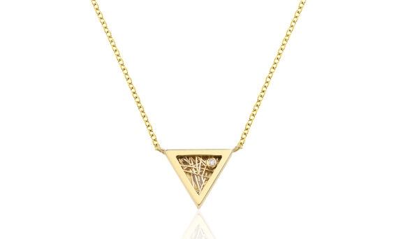 Anastazio Jewellery Eros necklace mounted on 18kt yellow gold set with one diamond