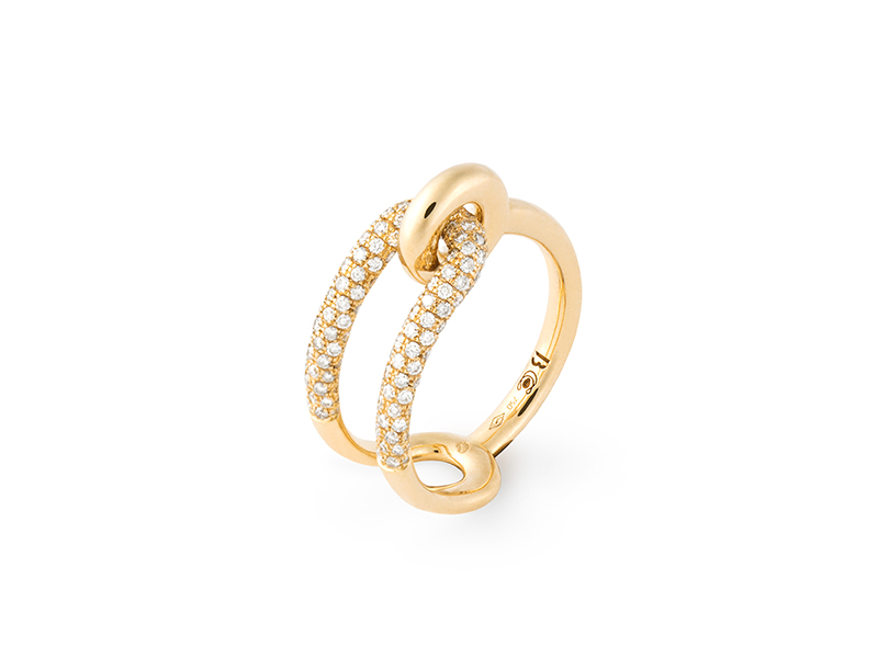 BYREDO x Charlotte Chesnais - Ring mounted on yellow gold set with diamonds