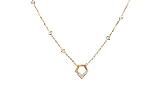 Flav Joaillerie Paris Kiss Me cheri necklace yellow gold diamonds