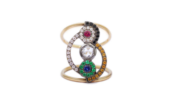 Flav Joaillerie Paris Sonia Rainbow ring