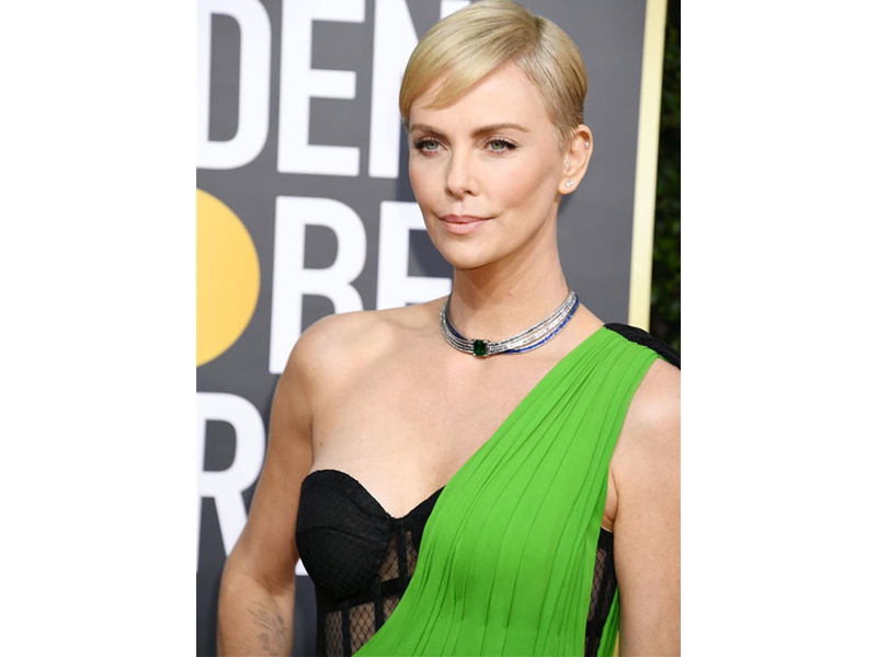 Golden Globes 2020 Charlize Theron Tiffany