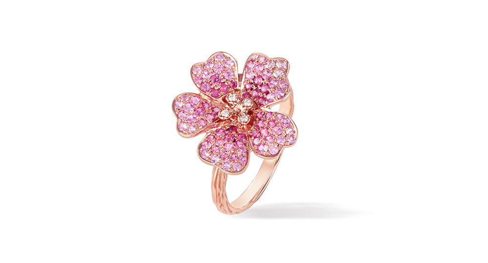 Cherry Blossom Large Flower Ring