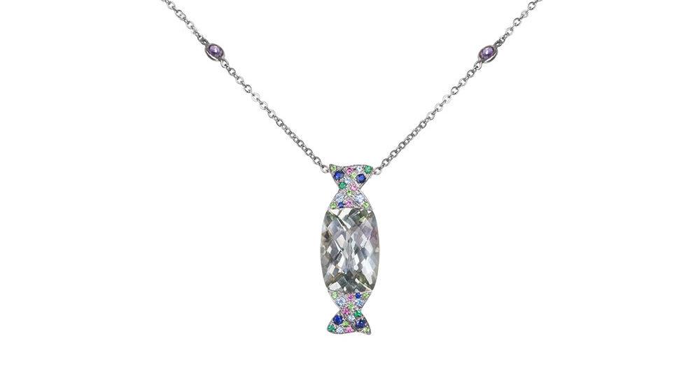 Caramella prasiolite pendant