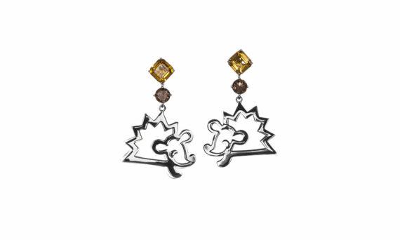 Vanessa Martinelli Favola Hedgehog earrings