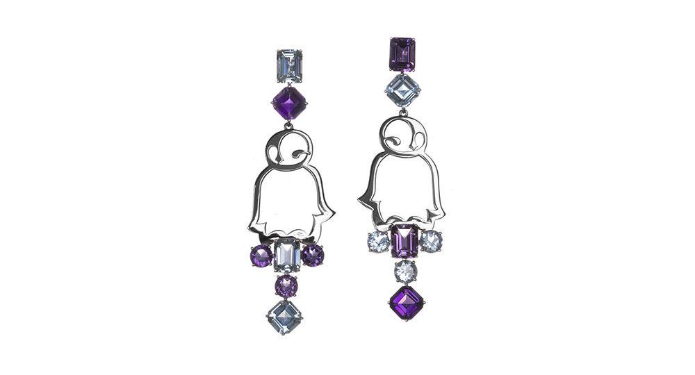 Boucles d'oreilles Favola Penguin