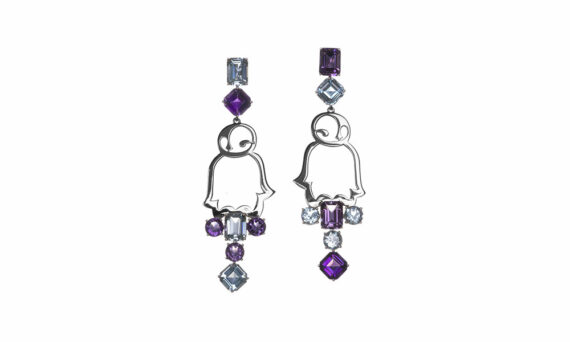 Vanessa Martinelli Favola Penguin earrings