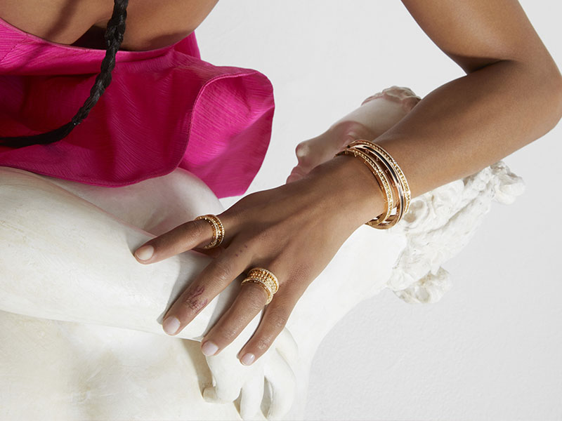 Bagues et bracelets Bvlgari issus de la collection B.Zero 1
