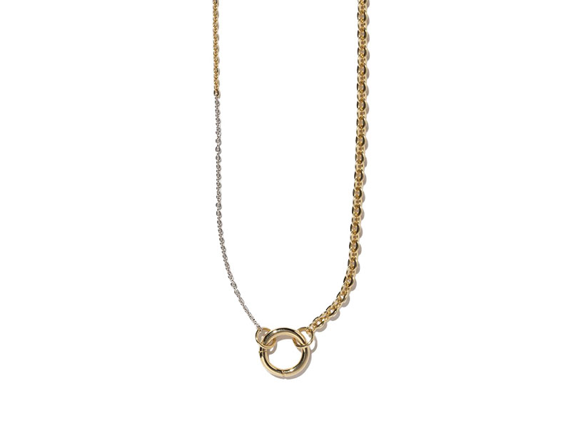 Milamore - Collier Duo Chains en or blanc et jaune