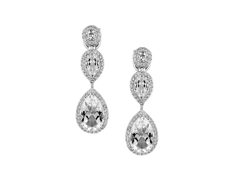 As By Penelope Cruz - Boucles d'oreilles serties de topazes et diamants de laboratoire