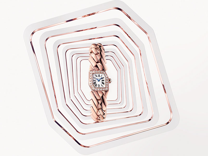 "Cartier - Montre or rose issue de la collection ""Maillon de Cartier"""