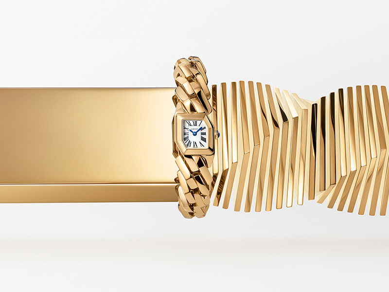 "Cartier - Montre or jaune issue de la collection ""Maillon de Cartier"""