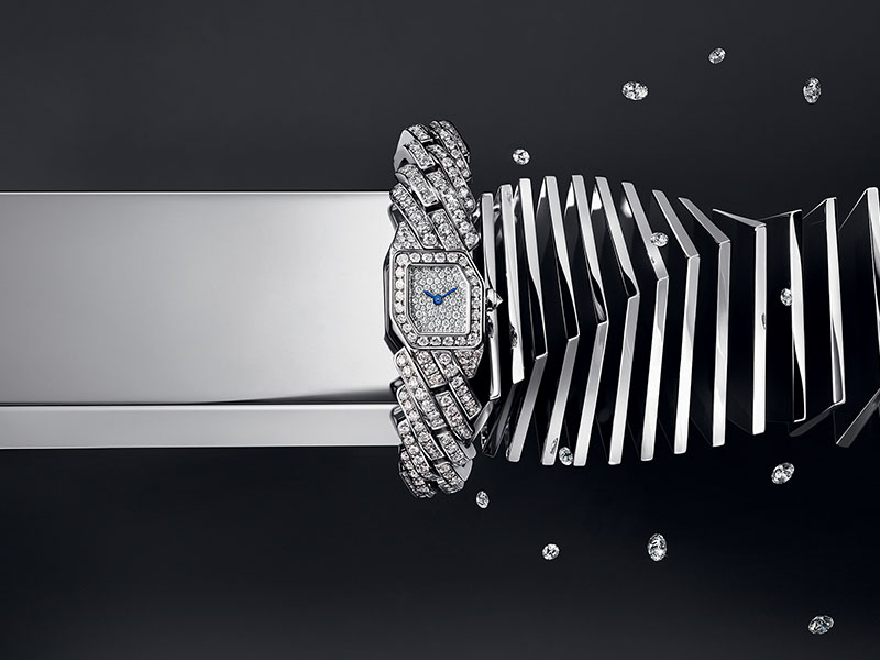 "Cartier - Montre or blanc issue de la collection ""Maillon de Cartier"""