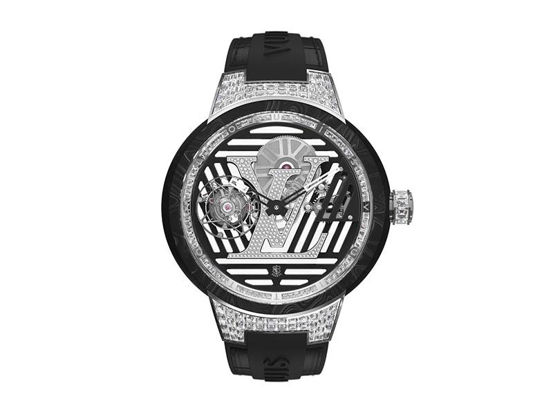 Louis Vuitton - Tambour Curve tourbillon volant sertie