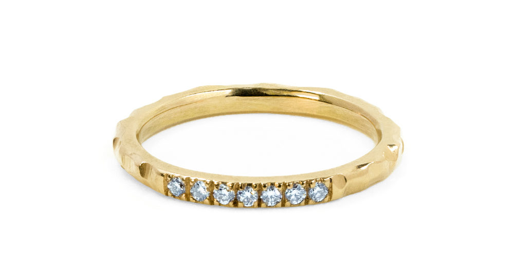 Bague Diamant Martelée