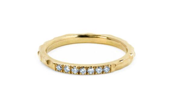 Rivka Nahmias Diamond Hammered Ring