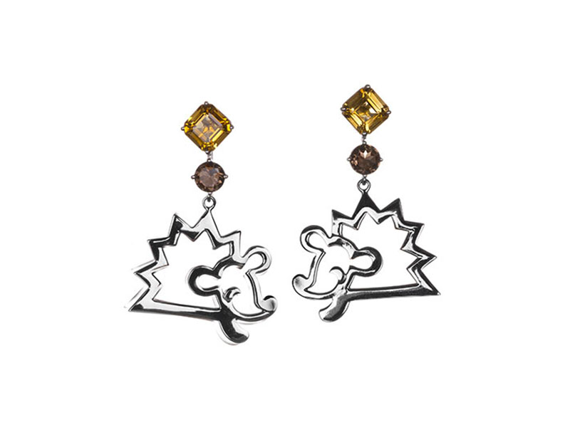 Vanessa Martinelli - Favola Hedgehog earrings
