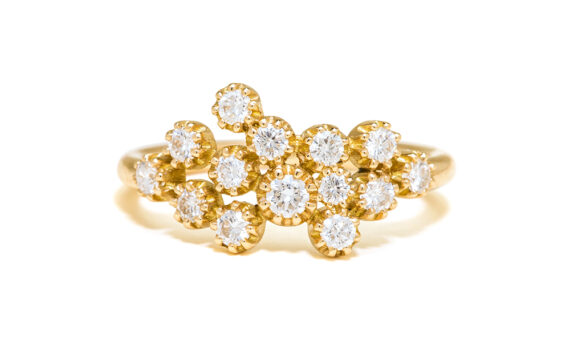 Maison Artaner Magic Topkapi 14 Diamonds Ring Yellow Gold-1