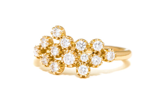 Maison Artaner Magic Topkapi 14 Diamonds Ring Yellow Gold-2