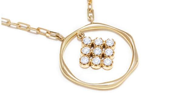 Magic Topkapi 9 Diamonds Necklace-2