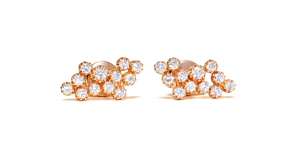 Magic Topkapi 24 Diamonds Rose earrings