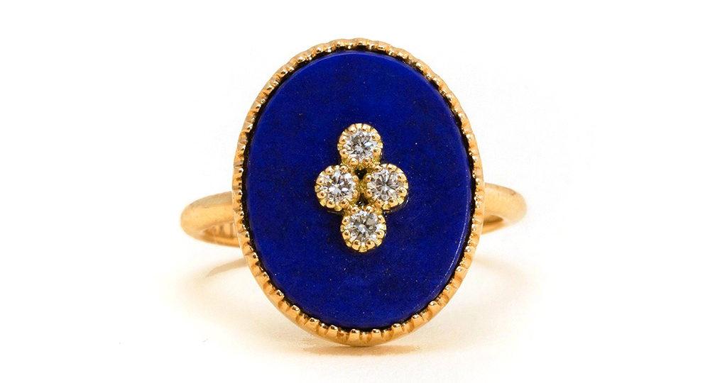 Bague La Rose des Alizés Lapis Lazuli
