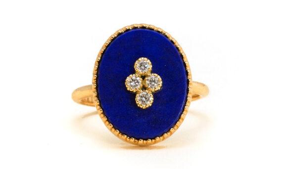 La Rose des Alizés lapis lazuli ring-1