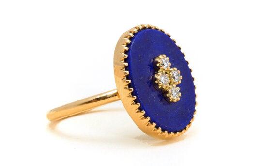 La Rose des Alizés lapis lazuli ring-3