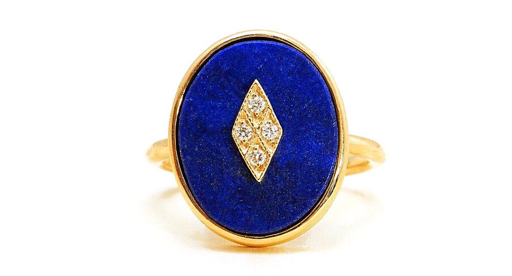 La Rose des Alizés Ring Lapis Lazuli