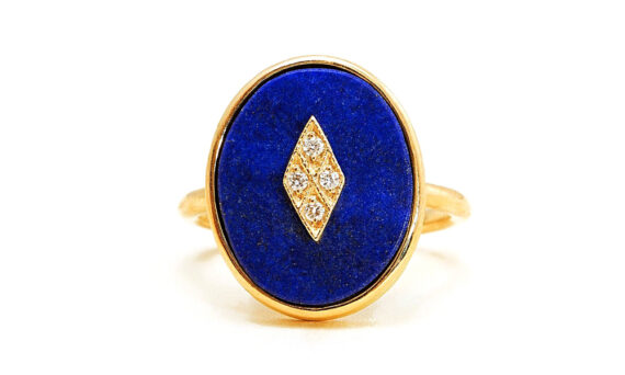 La Rose des Alizés Ring Lapis Lazuli-1